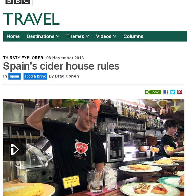 La BBC TRAVEL se hace eco de la sidra y del rito del txotx.