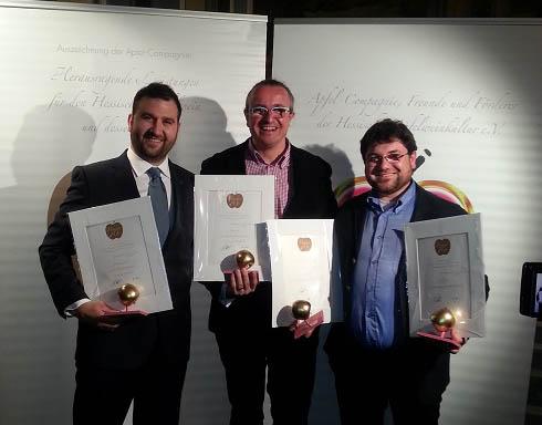 Las sidrerías Astarbe y Bereziartua premiadas en la Feria Internacional de Sidras de Frankfurt.