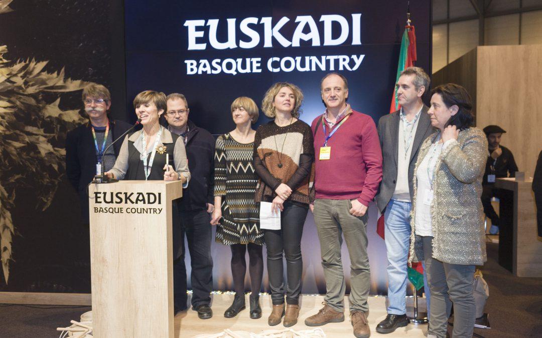Sagardoetxea asiste a la presentación de la red de Museos Enogastronómicos de Euskadi en FITUR.
