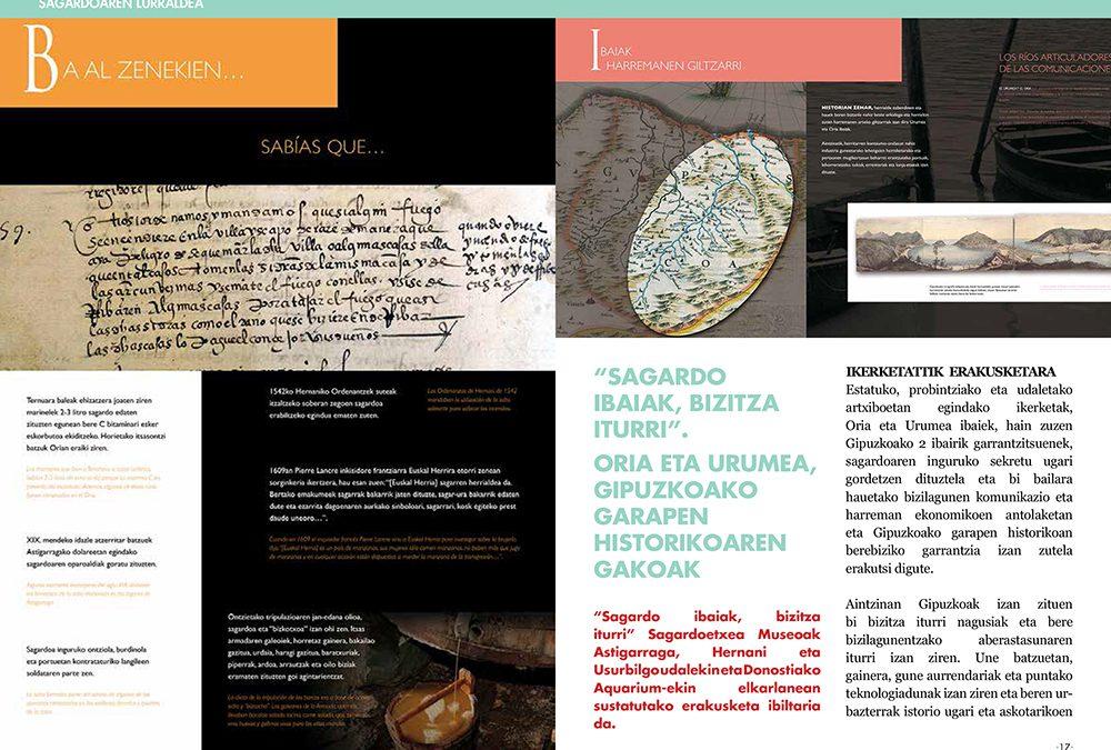 """«Sagardo ibaiak, bizitza iturri"""". Oria y Urumea, claves del desarrollo histórico de Gipuzkoa."""