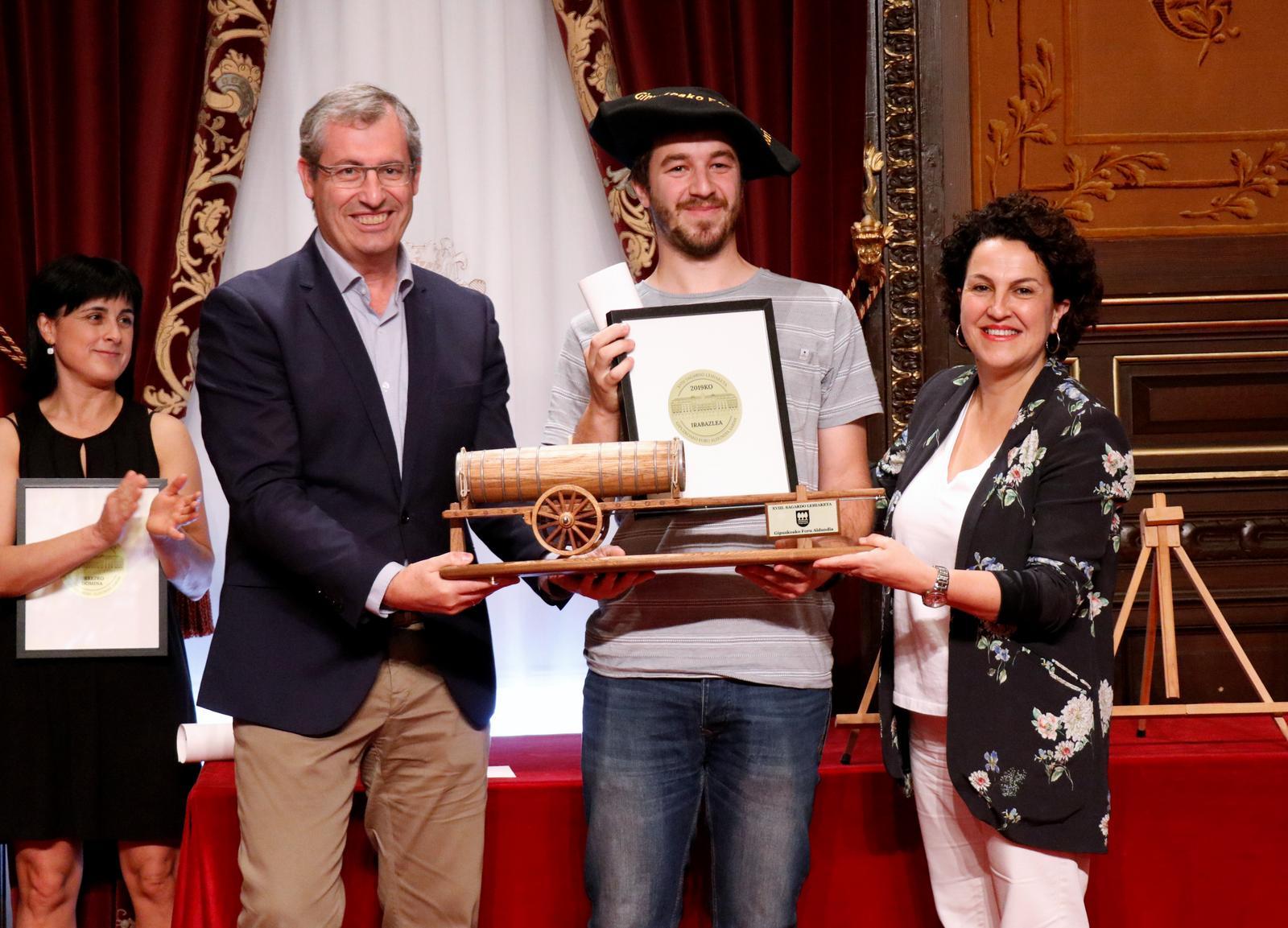 XIX Concurso de Sidra, premios Diputación Foral de Gipuzkoa