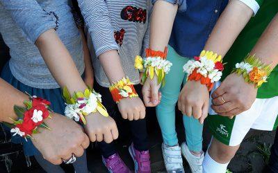 Celebración de la primavera muy participativa en Sagardoetxea