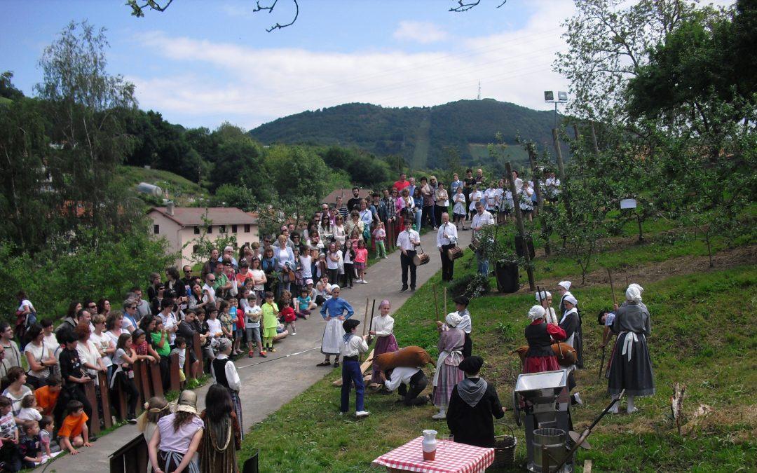 Celebración de la primavera 2017 en Sagardoetxea