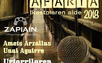 Bertso Afari a favor de Herri Urrats en la sidrería Zapiain