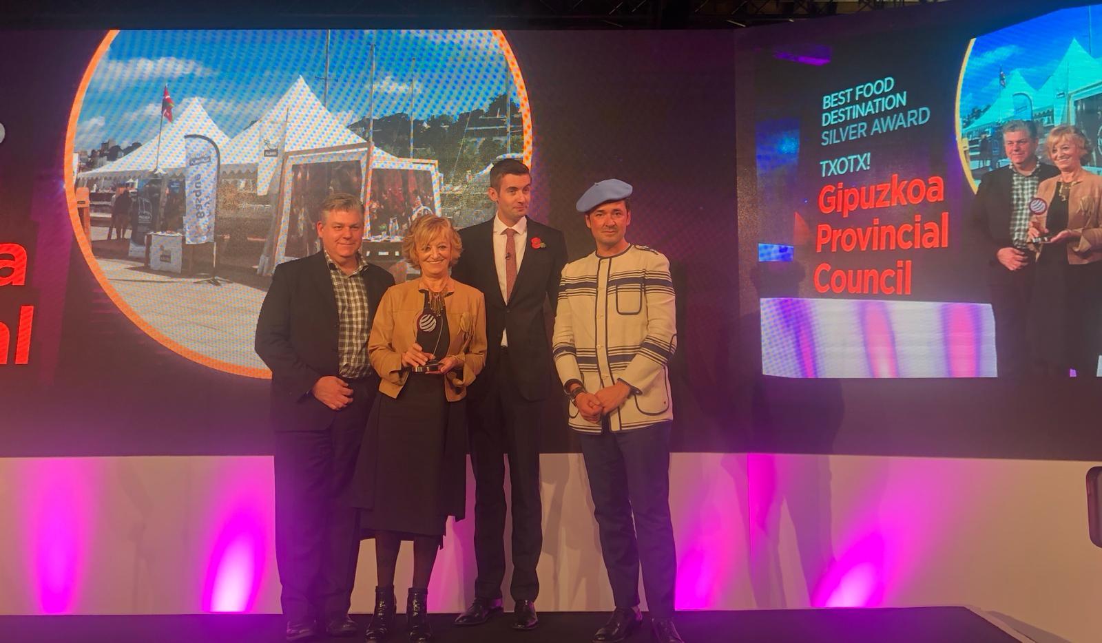 """""""Txotx! Euskal erritu gastronomikoa"""" kanpaina, saritua izan da Londres-eko """"International Travel & Tourism Awards"""" sarietan"""