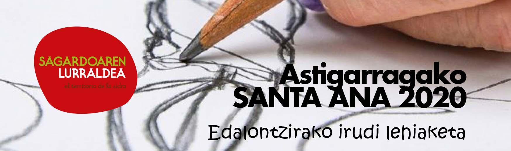 Edalontzirako irudi lehiaketa Astigarragako Santa Ana 2020 egunerako